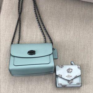 Coach Parker 18 and tea rose wallet